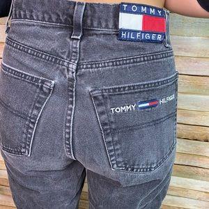 Tommy Hilfiger 31 X 30 Black Denim Jeans 90's Vtg